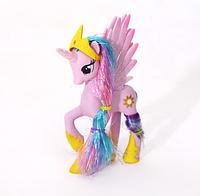 Пони 14 см. My Little Pony Мой маленький пони Розовая Игрушка для девочек Единорог, фото 1