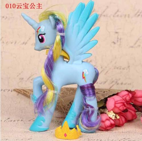 Пони 14 см. My Little Pony Мой маленький пони Радуга Дэшф Игрушка для девочек Единорог, фото 1