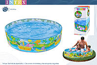 Бассейн детский каркасный Intex 58457 «Пляжные друзья», 2089 л., 244 х 46 см