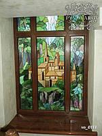 Витражные окна пейзаж
