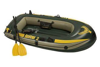 Лодка Intex SeaHawk 2 с насосом и веслами