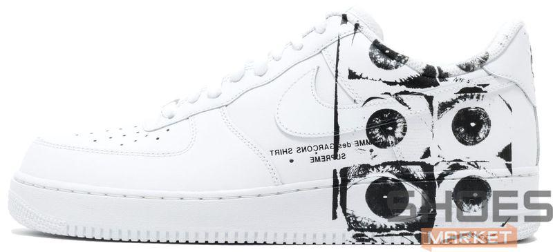 f35de98f Мужские кроссовки Nike Air Force 1 Low X The Supreme x COMME des GARÇONS -  Интернет