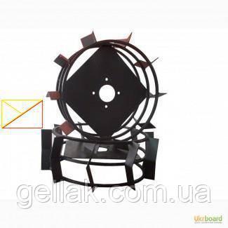 Грунтозацепы к мотоблоку (железные колёса) Ø 450 мм цельный квадрат 10х10