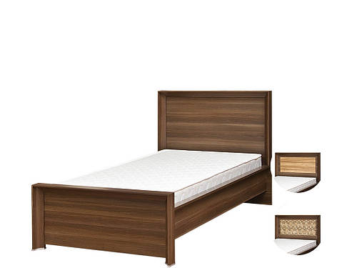 Ліжко з ДСП/МДФ в спальню 1-сп (б/матрасу, та каркаса) Палермо дуб борас Світ Меблів