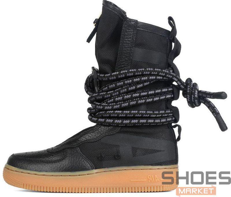 167fbace Мужские Кроссовки Nike SF Air Force 1 High Black — в Категории ...