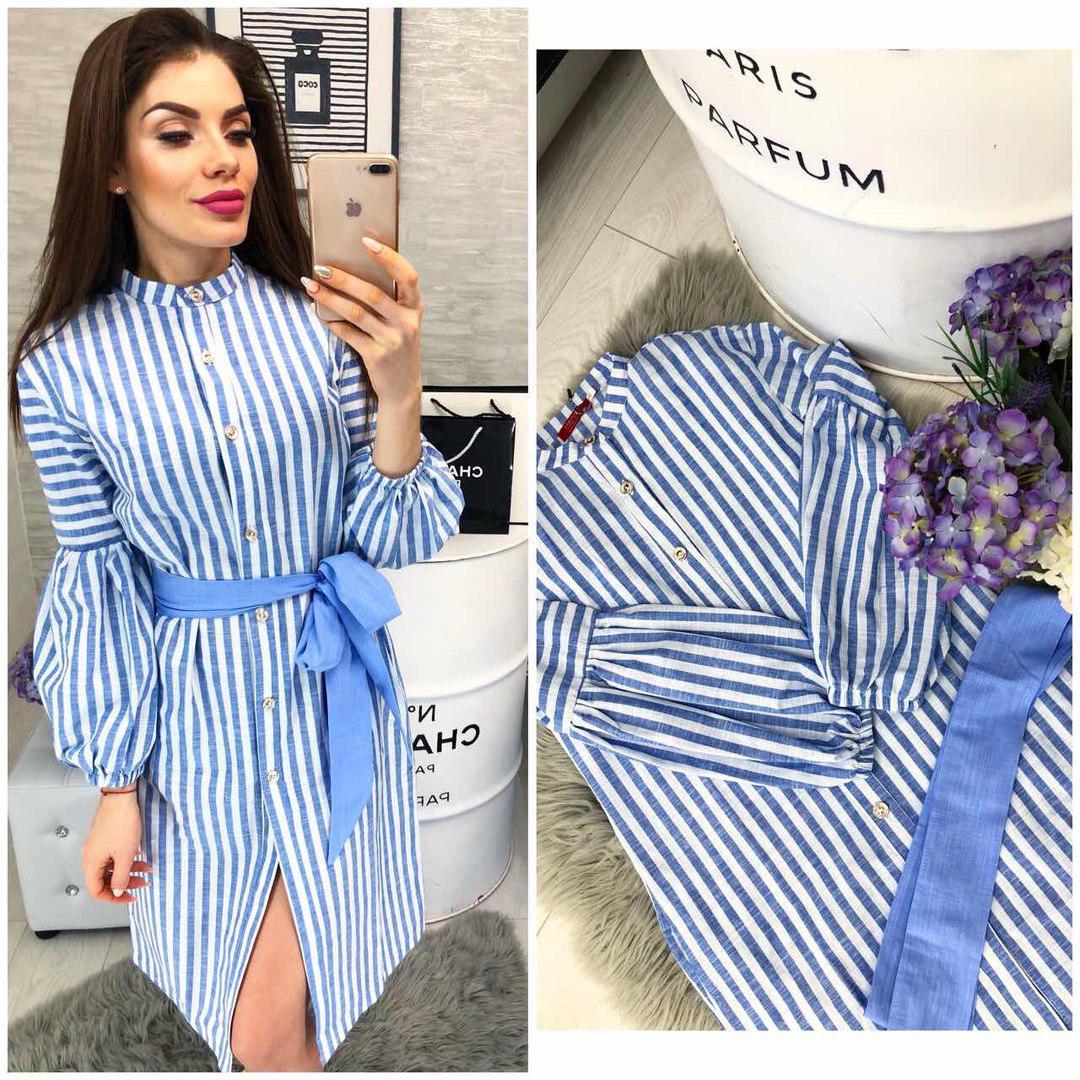 aeaad17e3d3 Платье рубашка лен в полоску - Интернет-магазин