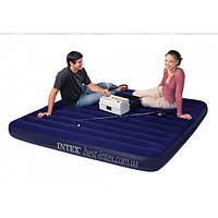 Двухспальный надувной матрас INTEX 183х203х22 см.