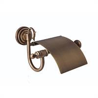 Держатель для туалетной бумаги с крышкой ( Versace ), бронза V 001