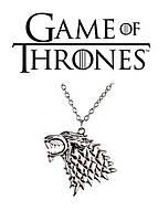 Кулон по мотивам Игры престолов Волк с гербом Старков