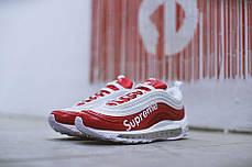c0122fb138b7b1 Женские кроссовки Nike Air Max 97 X Supreme White Red купить в ...