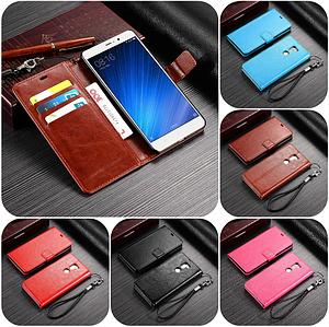 """Xiaomi Mi 5s Plus оригинальный кожаный чехол книжка кошелёк с карманами мраморная кожа на телефон """"LUXON"""""""
