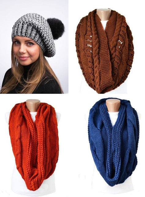 В продаже появились новые модели теплых шарфов.