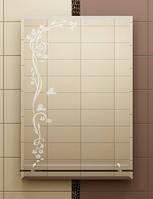 Зеркало с полкой 70х50 см