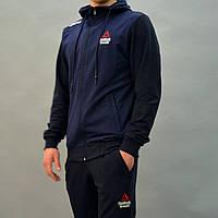 Мужской спортивный костюм Reebok Crossfit (Рибок) с капюшоном, брюки на манжетах | Турция, Трикотаж