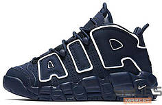 Женские кроссовки Nike Air More Uptempo Navy/White