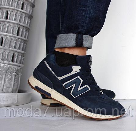 4f920b2f7ac7d Кроссовки мужские синие New Balance нат. замша реплика: продажа ...