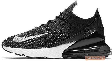 Мужские кроссовки Nike Air Max 270 Flyknit Black White купить в ... 35e19e530bf