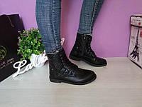 Ботинки черные демисезонные