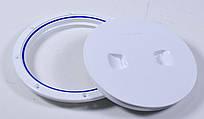 Лючок инспекционный, белый,  диаметр 15,3см,  C13025W8