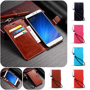 """Xiaomi Redmi 4 PRO оригинальный кожаный чехол книжка кошелёк с карманами мраморная кожа на телефон """"LUXON"""