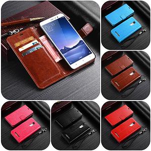 """Xiaomi Redmi Note 3 оригинальный кожаный чехол книжка кошелёк с карманами мраморная кожа на телефон """"LUXON"""