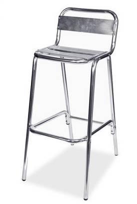Барный стул алюминиевый без подлокотников