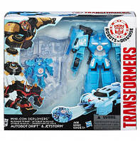 TRA Мини-трансформер Роботс-ин-Дисгайс Миникон Деплойерс Autobot Drift & Jetstorm