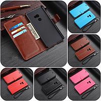 """Xiaomi Mi MIX 2 оригинальный кожаный чехол книжка кошелёк с карманами мраморная кожа на телефон """"LUXON"""