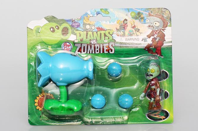 Игрушка Растения против зомби морозный горохострел Фирменная упаковка Plants vs zombies, фото 1