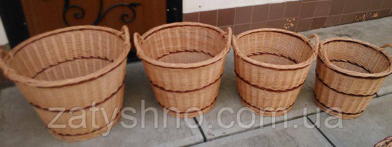 Набор корзин плетеных  4 штуки