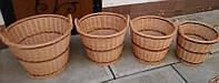 Набор корзин плетеных  4 штуки, фото 1
