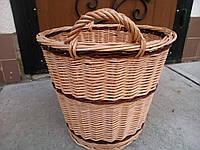 Корзина плетеная  для белья без крышки , фото 1