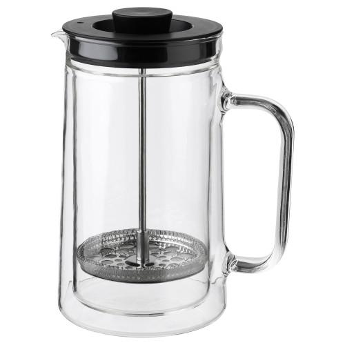 ЭГЕНТЛИГ Кофе-пресс/заварочный чайник, двойная стена, прозрачное стекл