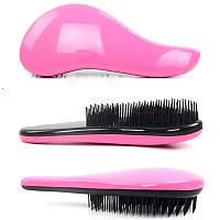 Профессиональная расческа для волос Magic Comb Tangle Hair Brush розовая, фото 1