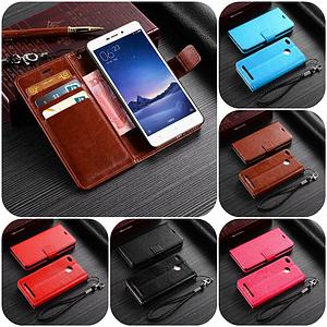 """Xiaomi Redmi 3X оригинальный кожаный чехол книжка кошелёк с карманами мраморная кожа на телефон """"LUXON"""