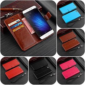 """Xiaomi Mi 5c оригинальный кожаный чехол книжка кошелёк с карманами мраморная кожа на телефон """"LUXON"""""""