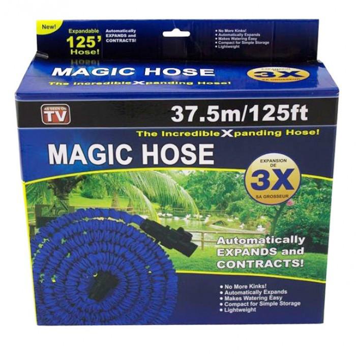 Шланг Magic Hose 37,5 метров для полива сада с распылителем