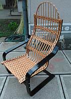Кресло качалка на пружине плетеная