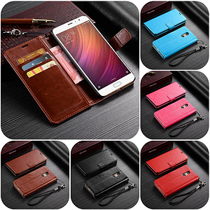"""Xiaomi Redmi Pro оригинальный кожаный чехол книжка кошелёк с карманами мраморная кожа на телефон """"LUXON"""""""