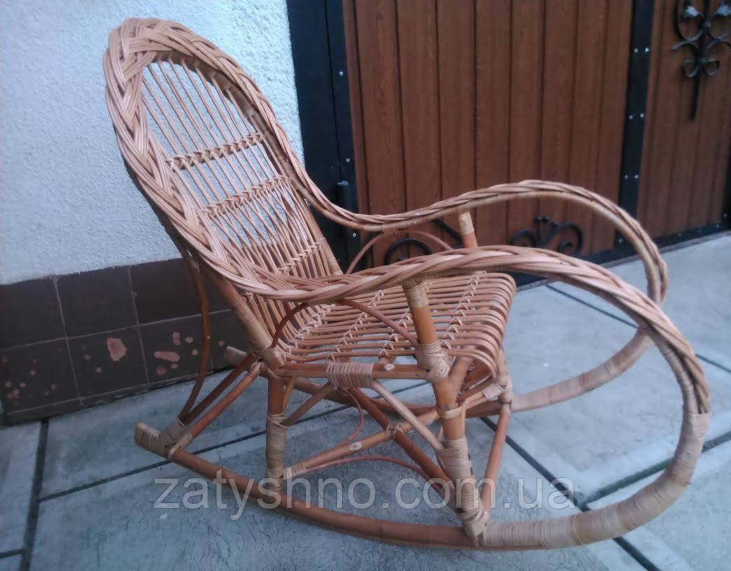 Кресло качалка детская из лозы
