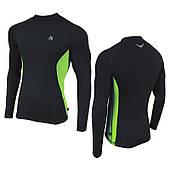 Рашгард (спортивная кофта) Radical Fury Duo, чёрный с зелёными вставками