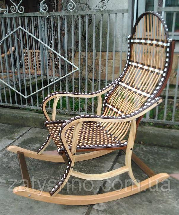 Кресло качалка плетенное из лозы черная
