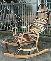 Кресло качалка плетенное из лозы черная, фото 1