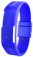 Наручные часы LED Синие с белыми полосками