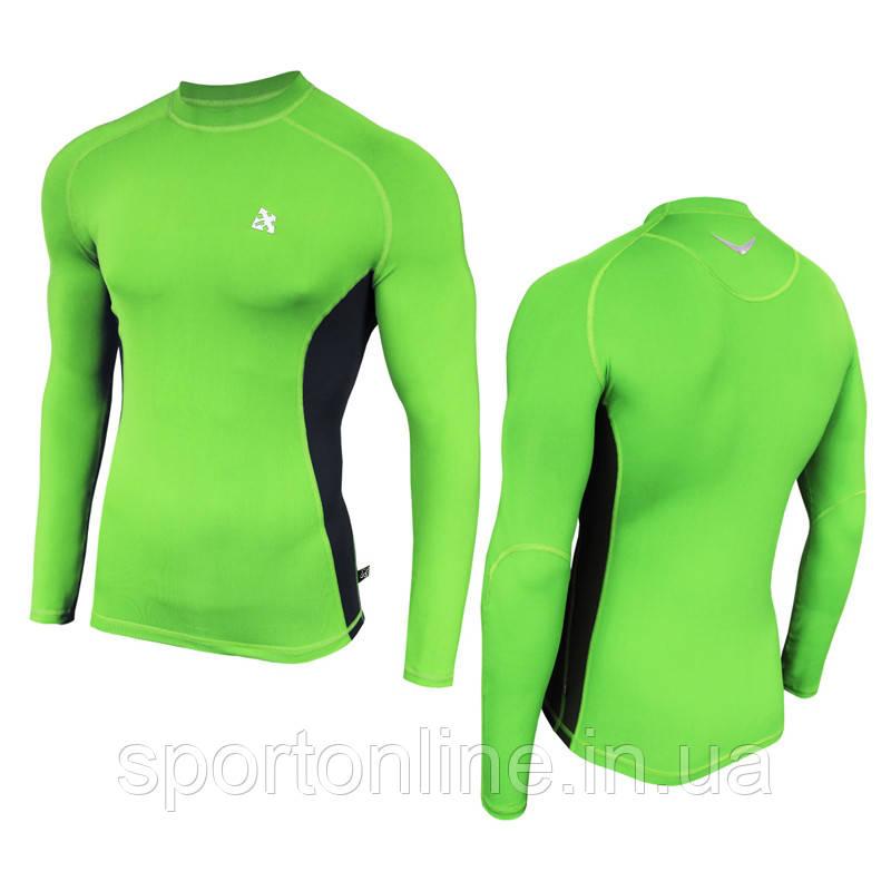 Рашгард (спортивная кофта) Radical Fury Duo, Зеленый с чёрными вставками