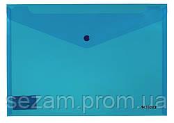 Папка з кнопкою, прозора, А4, РР 180мкн, SOZ