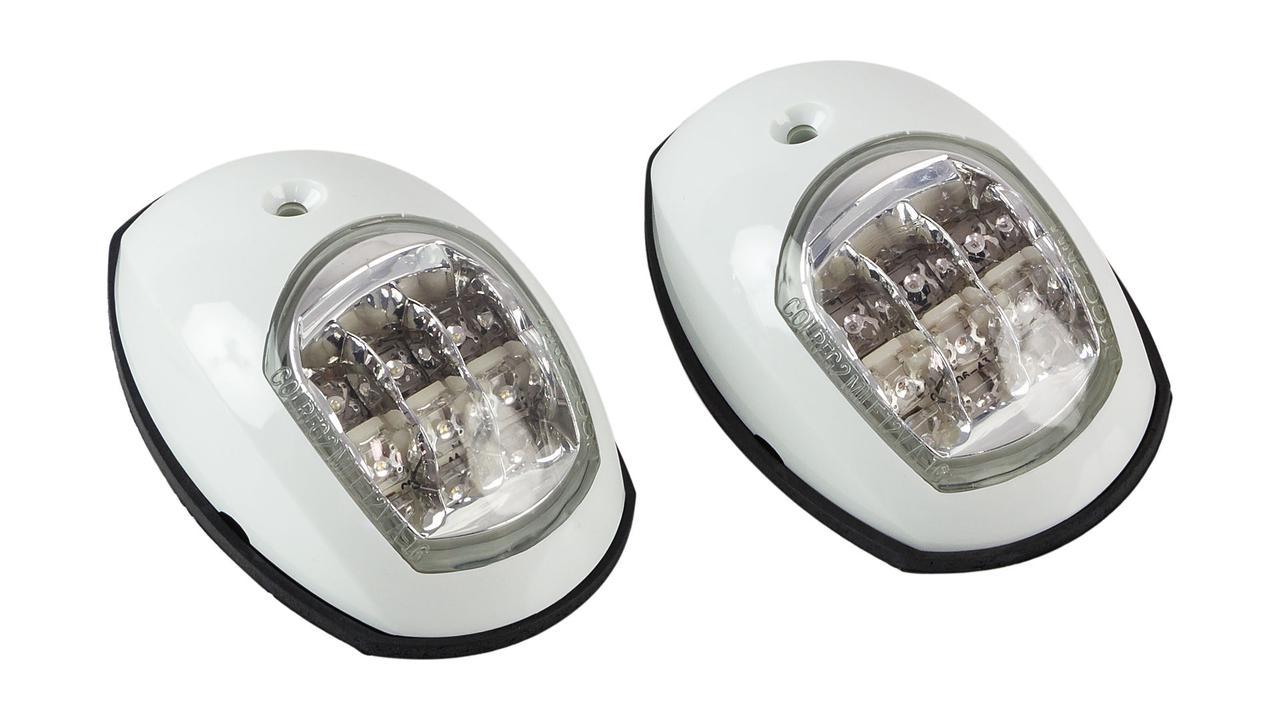 Пара LED навигационных огней, белый корпус, C91006PW-1