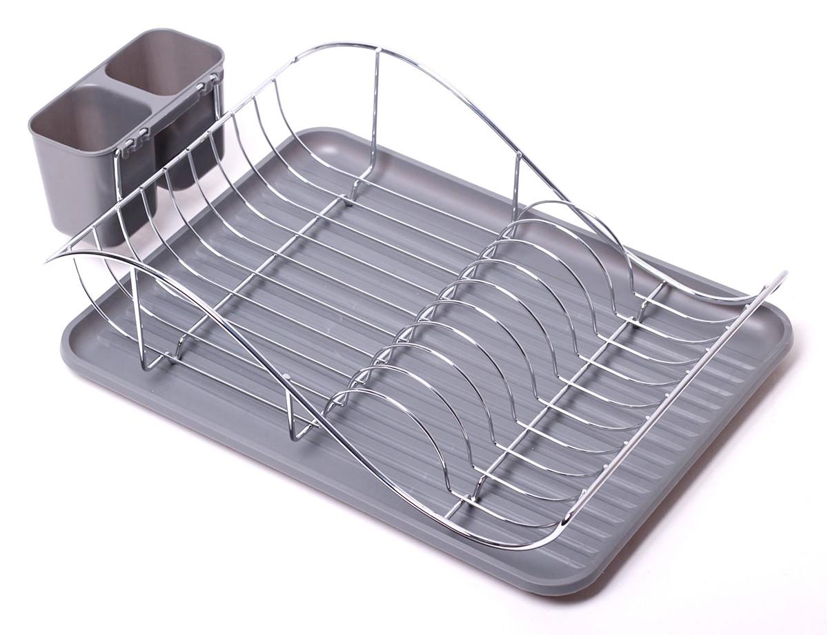 Сушилка для посуды Kamille 52х32х13см с поддоном KM-0761B