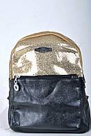 Женский рюкзак из экокожи (Золотистый)