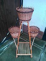 Подставки плетеные на 3 горшка, фото 1